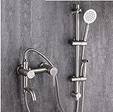 NewBorn Faucet Küche Oder Badezimmer Waschbecken Mischbatterie Dusche aus Edelstahl 304 Kit und kaltem Wasser Leitungswasser Mischventil, Unterputz 3-Badewanne Spritzpistole Frau Washington.