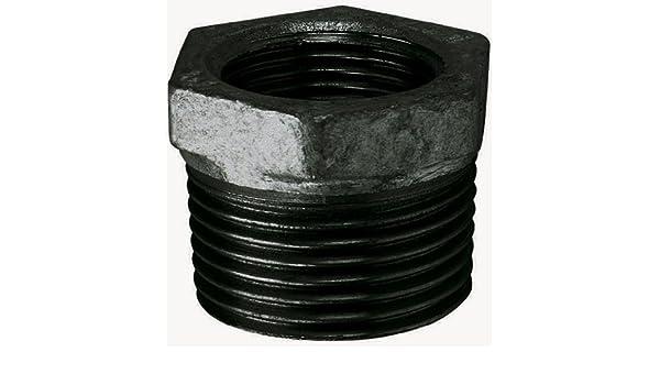 "1/""X1//2/""      BSPT//P MALE//FEM BUSH BLACK MI241-1-12N FTM Malleable Iron Fitting"