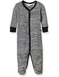 Musli by Green Cotton Stripe Bodysuit W/Feet, Pelele Unisex bebé
