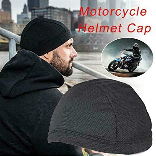 Dome Cap,Feuchtigkeitstransport Kühlende Helm-Innenkühlkappe Inner Liner Helm Beanie Dome Cap,aus 90% Polyester und 10% Elasthan, ist weich, atmungsaktiv (Schwarz) Polyester Liner