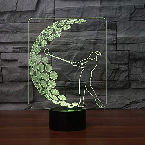 yuandp Visuelle Illusion 3D Lampe transparent Acryl Nachtlicht Led Märchen Lampa Farbwechsel Touch-Tabelle Bulling Lambas