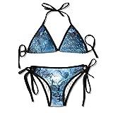 Photo de Sexy Triangle Bathing Two Pieces Glacier Cave Man Blue Ladies Summer Beach Outfit Bikini Two-Piece Swimsuit par HAMANY