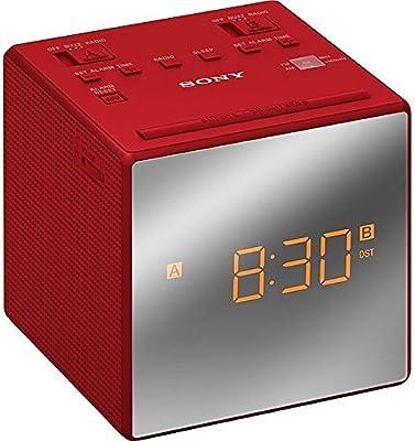 Sony ICF-C1TRD Rojo Despertador Radio reloj, alarma dual