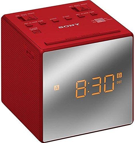 Sony ICF-C1T Radiosveglia con Sintonizzazione FM/AM Analogico, Rosso