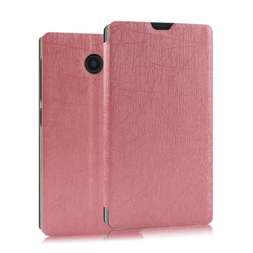 Heartly Premium Luxury PU Leather Flip Stand Back Case Cover For Nokia X X+ Dual Sim Plus Android A110 - Pink  available at amazon for Rs.399