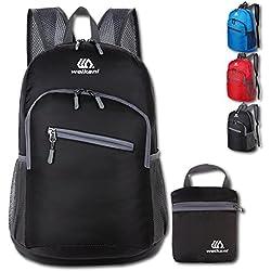 Mochila de embalaje al aire libre, plegable ultraligero bolsa de deporte impermeable viajando escalada senderismo mochila / daypack-18L (negro)