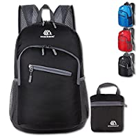 Lightweight Foldable Rucksack Outdoor Packable Backpack Ultralight Waterproof Sport Bag Travelling Climbing Hiking Cycling Rucksack Daypack- 18L (black)