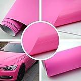 Autofolie Matt Pink 152cm breit BLASENFREI mit Luftkanäle 3D Flex Folie Auto