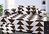 #4: Homefab India 100% Cotton 8 Pieces Diwan Set - Brown