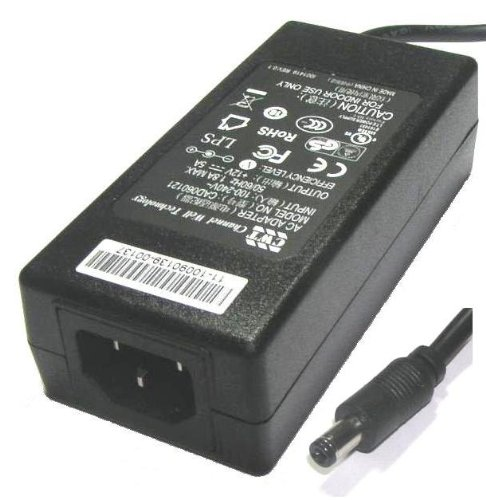 Genuine CWT (Chennel Well Technology) 12V 5A, 60W AC adapter for LCD TFT Monitors, TVs, DVDTVs, and other equipment ..... Model number: CAD060121, this is newer version of PAA060F power adaqpter with newer technology and energy efficiency ........ With 2.5mm/5.5mm standard barrel type plug (jack). Request kettle type power lead which is not included....... . . . This adapter is ideal to replace any central positive polarity 12V 5A (or less than 5A current) adapters, e.g. 12V 2A, 12V 3A, 12V 4A, 12V 4.16A..........Can replace CWT PAA040F, PAA050F, sawa-01-406 (12V 4A, 5A) adapters..... Brand new with 1 year warranty....... Distributed by Hunterfield Ltd, all rights are reserved.
