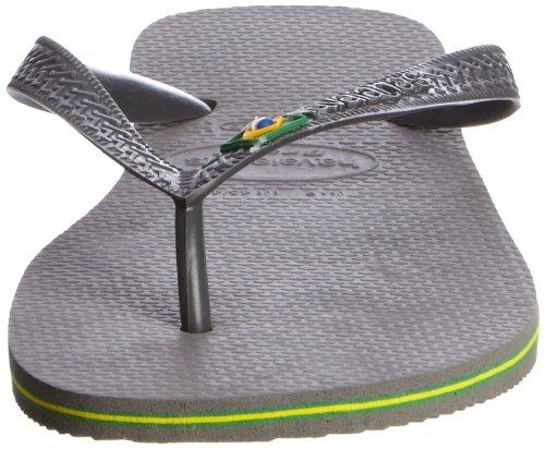 Havaianas Brasil, Tongs mixte adulte Gris (Grey 0324)