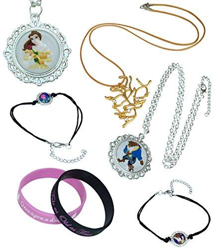 Orion Creations Beauty and The Beast Colliers et Bracelets. Boite Cadeau