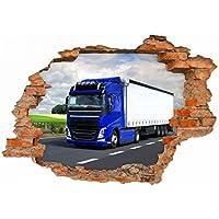 LKW Truck Landstraße Landschaft Wandtattoo Wandsticker Wandaufkleber D0507