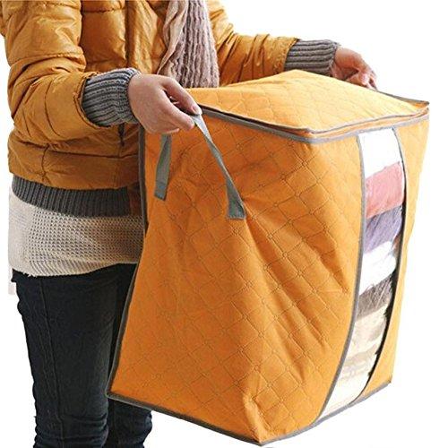Tongshi Venta caliente Caja de almacenamiento portátil Organizador no tejido debajo de la cama bolsa de la caja de almacenaje del bolso (Naranja)