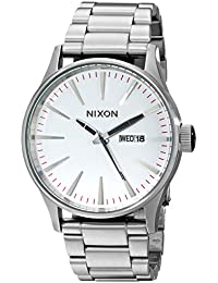 Nixon Herren-Armbanduhr XL Sentry SS Silver Analog Quarz Edelstahl A356130-00