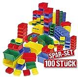 """100x Sichtbox """"CLASSIC"""", 55 Stück FB 6, 35 Stück FB 5 und 10 Stück FB 4, Sichtboxen bunt gemischt"""