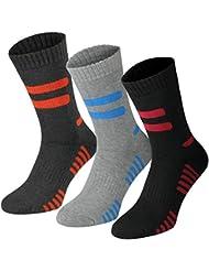 Lavazio® 6 | 12 | 18 | 24 Paar Herren Arbeitssocken Sportsocken Thermo Socken dick & herrlich schwarz/grau
