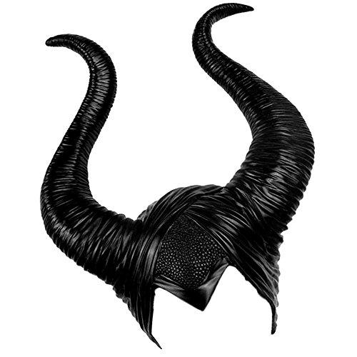 elfisheu Halloween Kostüm Kopfschmuck Hörner für Maleficent Cosplay -