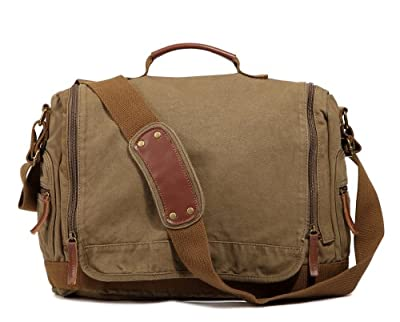 sulandy@ New Men Canvas Shoulder Bag Messenger Bag School Bag purse by sulandy