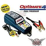 Optimate 4 Dual Can Bus Chargeur de batterie pour moto BMW + adaptateur DIN