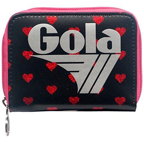 PORTAFOGLIO GOLA DAVIS HEARTS BLACK - RED
