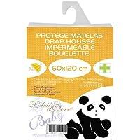 Soleil d'Ocre 911300 Protège Matelas Imperméable pour Lit de Bébé Polycoton Blanc 120 x 60 cm