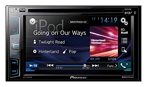 Pioneer AVH-X3800DAB Multimedia-Player (Doppel-Din, 6,2 Zoll / 15,2 cm), Clear Type Touchscreen (Pioneer Doppel-din Bluetooth Dvd)
