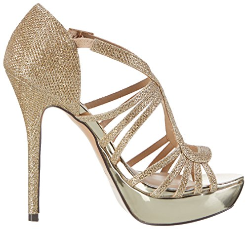 Menbur Kenia, Chaussures Compensées Femme Doré