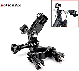 Action Pro K029 Bike Handlebar/Seatpost Clamp with 3-Way Adjustable Pivot Arm, for Gopro Hero 5/4/4S/3+/3/2/1(Black)