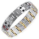 University Trendz 18 k Gold Plated Titanium Health Care Bio Energy Bracelet (3)