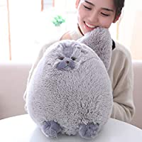 Winsterch 30 cm Fluffy Plush Cat Toy,Stuffed Cat Animal Kids Soft Stuffed Animal Toy Baby Doll Gifts ,Grey