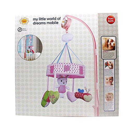 Amazemarket Niedlich ausgestopft Tier Hase Baby Jungen Mädchen Krippe Kinderwagen hängend Musical Drehen Box Weich Baumwolle Intelligenz Lehrreich Spielzeuge (mit Box) (Wald Tiere Ausgestopfte)