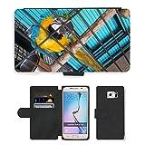 GoGoMobile PU LEDER LEATHER FLIP CASE COVER HÜLLE ETUI TASCHE SCHALE // M00124494 Papageienkäfig Vogelkäfig Vogel Caged // Samsung Galaxy S6 (Not Fits S6 EDGE)