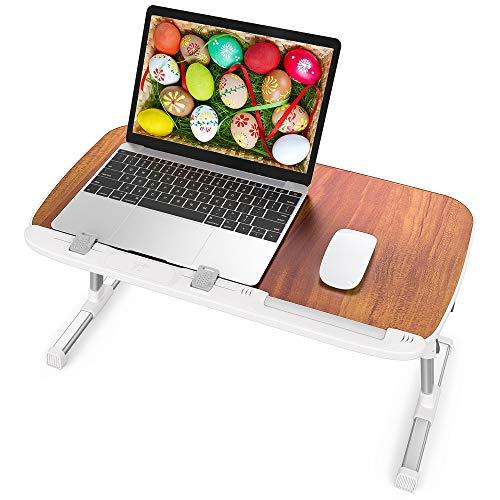 r Schoßschreibtisch, Bett Schreibtisch, höhenverstellbar, tragbares Betttablett für Couch und Sofa, Laptop-Ständer für Schoß und Schreiben, Braun ()