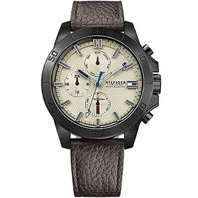 Tommy Hilfiger Hombre Reloj de pulsera analógico cuarzo piel 1791164