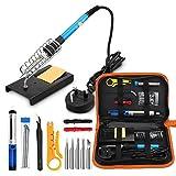 Soldering Iron Kit Electronics, 60W 110V Adjustable Temperature Welding Tool, 5pcs Soldering Tips