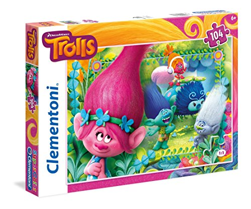Clementoni Puzzle 104 piezas You're invited to this party Trolls