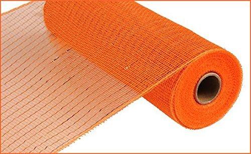 CRAIG BACHMAN 25,4cm X 30Füße Deco Poly Mesh Band-Metallic Orange mit Kupfer Folie Metallic-poly-mesh