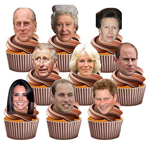 kuchendekorationen36essbare-cupcake-verzierungen-design-britische-knigsfamilie