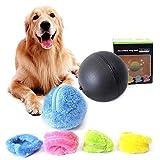 Morbuy Magic Roller Ball, IQ Chien Chat Pet Jouet Automatique avec 4 Color Ball Cover Nettoyage Maison Pet Jouets Tourner la Balle Automatiquement en Microfibre