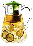 FINUM 66/428.60.20 - Caraffa con infusore Iced Tea Control, ideale per la preparazione di tè freddi, meccanismo di controllo dell'infusione, 1,8 l, colore: Verde mela