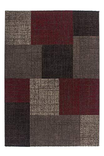 Lalee  347167692  Moderner Designer Teppich / Trendig / Patchwork Art / Braun Rot / Grösse : 80 x...