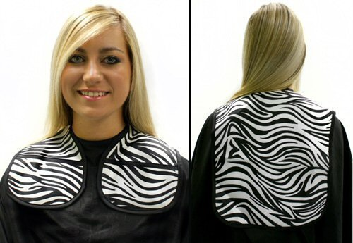 Hair Tools Zebra Print Hairdressing Cutting Collar Extra Long by Hairtools