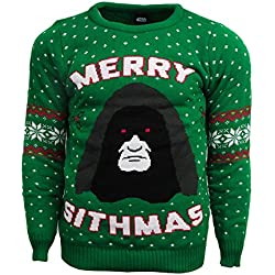 Merry Sithmas Official Star Wars Christmas Jumper / Sweater (Small)