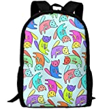 best& Stylish Cute Colorful Cats Laptop Backpack School Backpack Bookbags College Bags Daypack