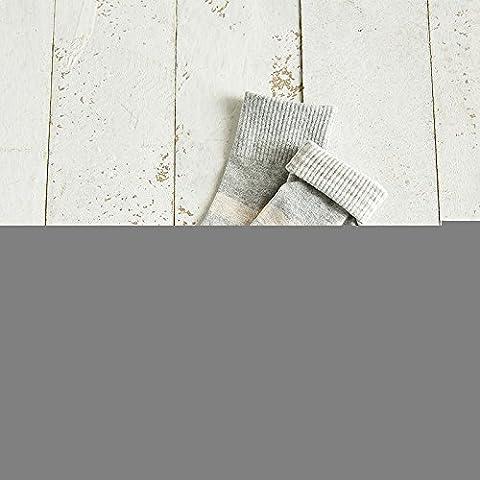 meichen/épaisseur Chaussettes rayures en coton colorées de Candy Tube Socks Chaussettes Joker adultes, Light grey stripes, Both
