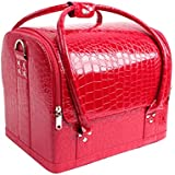 Egmy Fashion Professional Makeup Large Multi-function Portable Professional Makeup Beauty Crocodile Cosmetic Case...