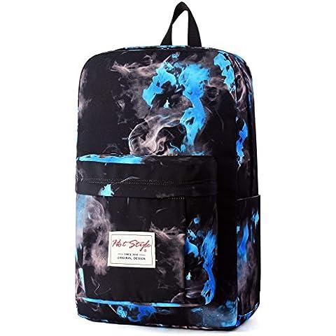 HotStyle Hoppor fuego mochila escolar 24L - Impermeable para portatil de 15-inch