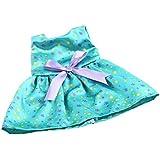 Gazechimp Vêtement de Poupée Jupe Floral Vert Motif Bowknot Accessoires Pour 18'' American Girl Dolls Jouet Cadeau Enfant Fille