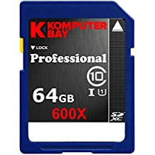 Komputerbay 64GB SDXC Secure Digital Extended Capacity Speed Class 10 600X UHS-I Ultra High Speed Scheda di Memoria Flash 40MB/s in scrittura 90 MB/s in lettura 64GB